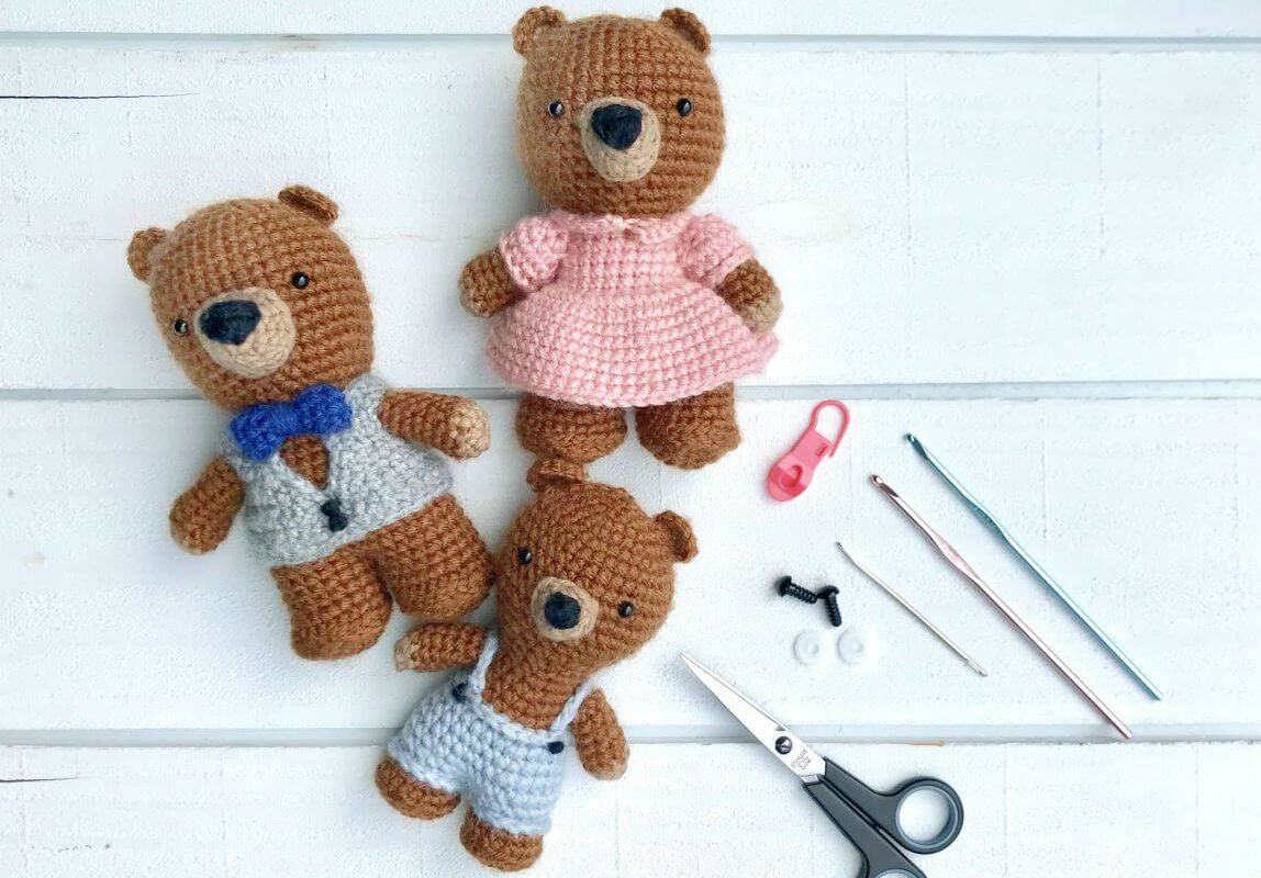 Colorful Amigurumi Bears | Crochet patterns, Crochet, Crochet ... | 800x1148